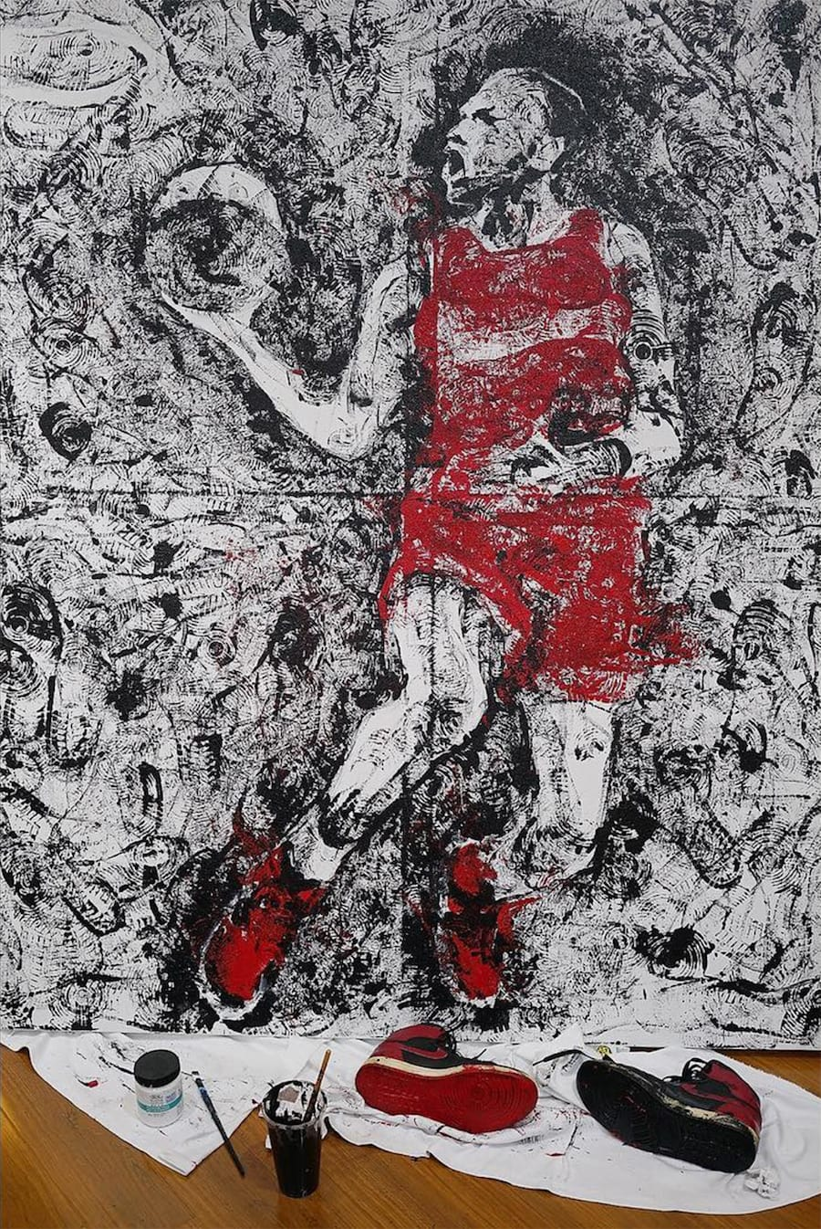 artist-paints-michael-jordan-with-air-jordans