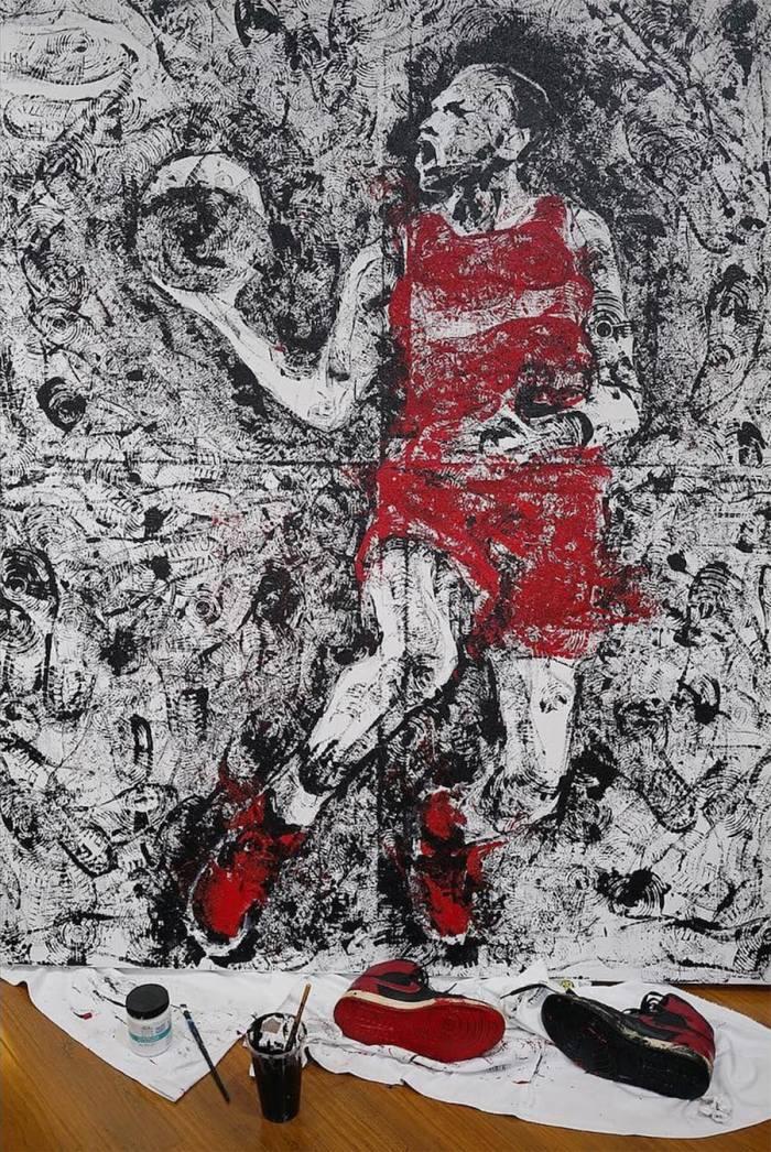 artist-paints-michael-jordan-with-air-jordans